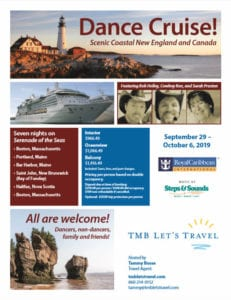 TMB Lets Travel - New England Canada Dance Cruise 2019