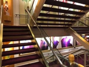 Serenade of the Seas - artwork in the stair cases