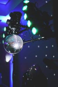 Steps & Sounds - Mobile DJ Service - Mirror ball and lights