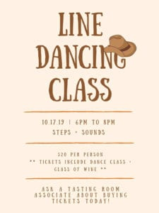 hawks ridge winery - Line Dancing Class-10172019
